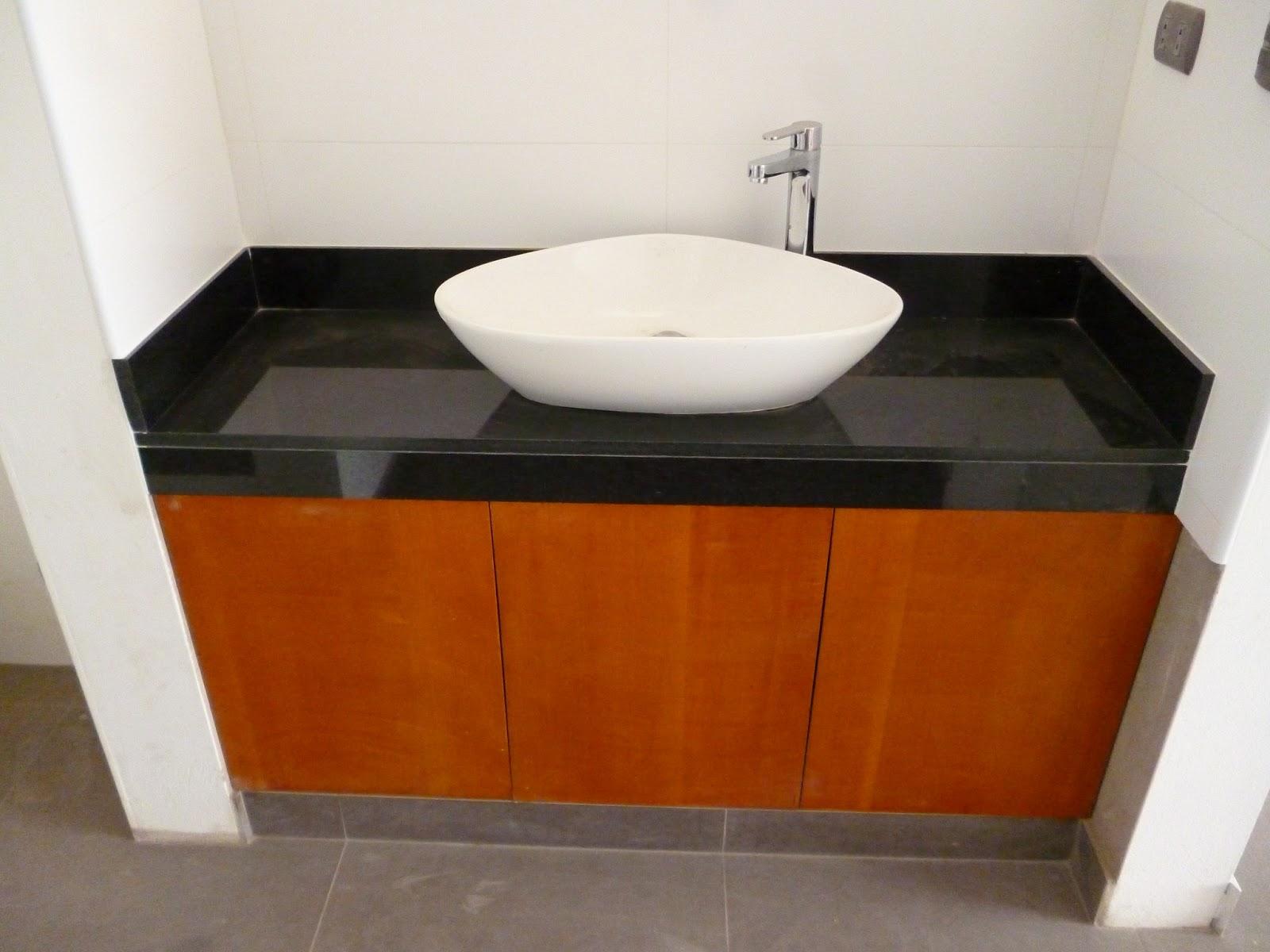 Tableros marmol granitos y cuarzos - Muebles de bano negros ...