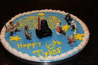 star wars decorated cookie cake