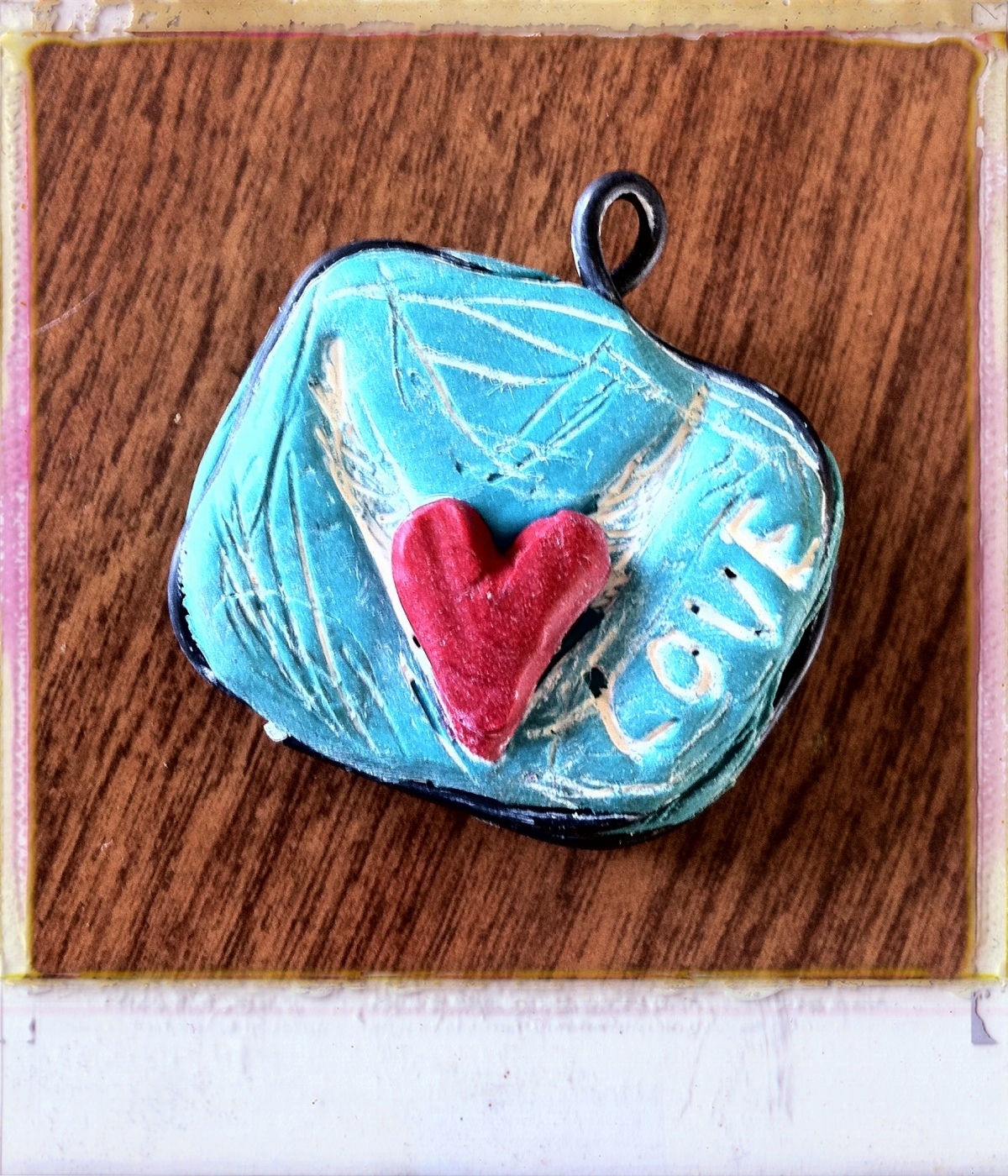 Art as Usual: Clay and Wire Flying Heart Pendant Tutorial
