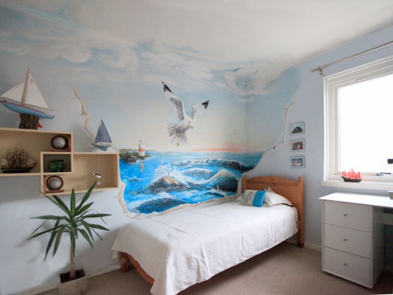 The forgotten studio seaside art for Bedroom mural painting