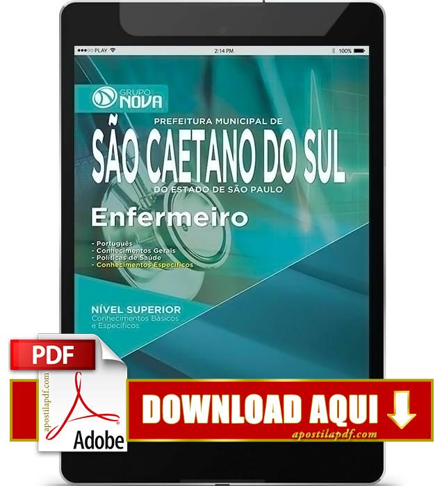 Apostila Prefeitura de São Caetano do Sul 2015 Enfermeiro PDF Download