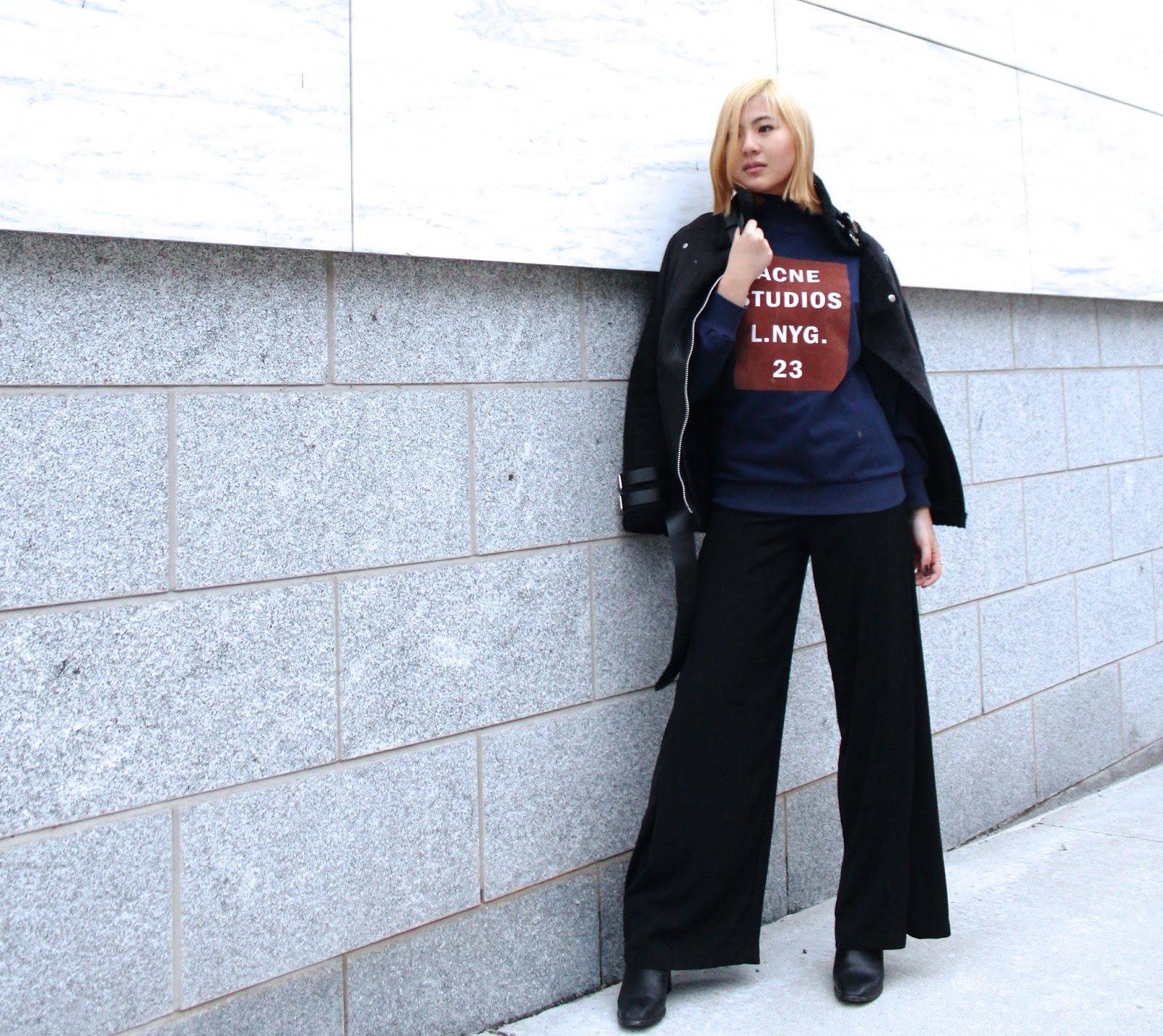 acne studios sweater fashion blog