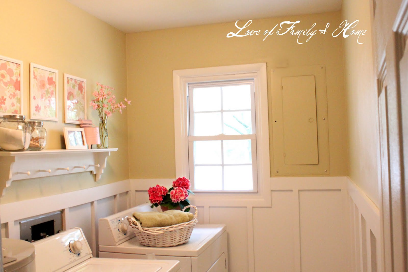 Easy Laundry Room Makeovers My Laundry Room Makeover Love Of Family Home