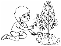 Plant A Tree To Save The Earth Coloring Sheet