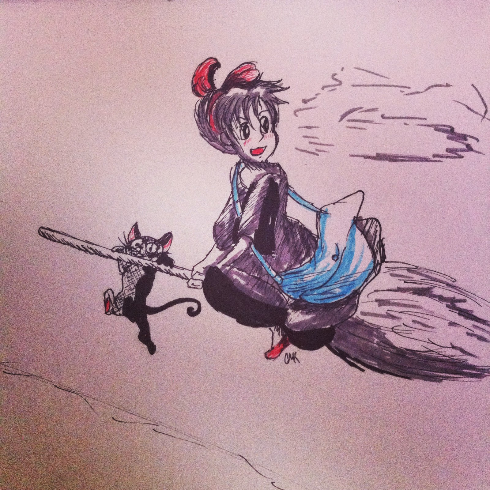 Kiki and Jiji from kiki's delivery service