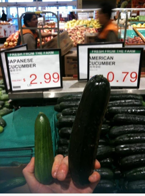 Which Cucumber is looking nice shape funny picture