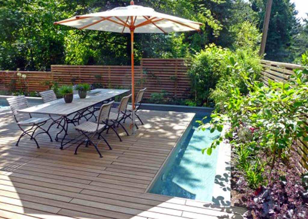 Desain Ruang Makan Terbuka Floating outdoor dining room design