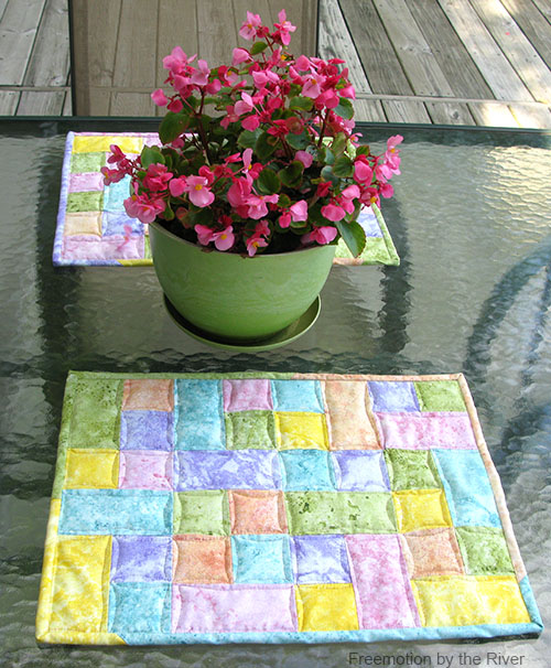 Placemats on table