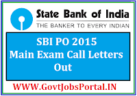 SBI PO Exam call Letters 2015