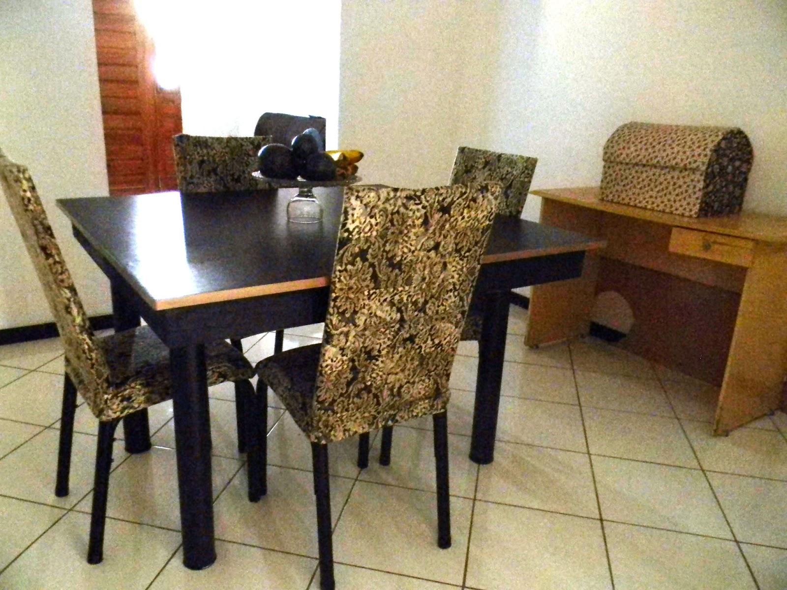 Cobrindo cadeira (Tubular ou Madeira) com tecido ~ Recicle sua Casa #6B4522 1600x1200