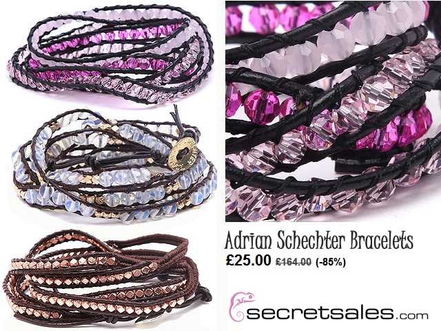 Adrian Schechter bracelet beaded 85% off bargain deal alert time secret sale