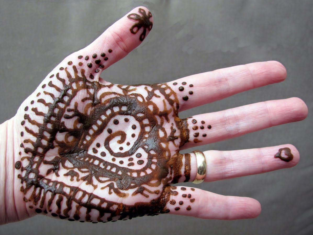 On 3/22/11, I decorated myself with mehndi designs ( henna ) as an way ...
