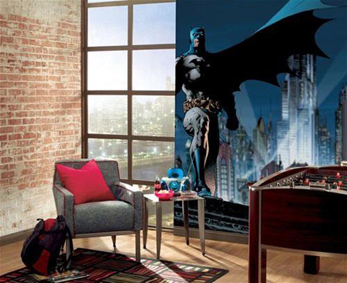 Quarto infantil inspirado em batman papo de design for Kids batman room