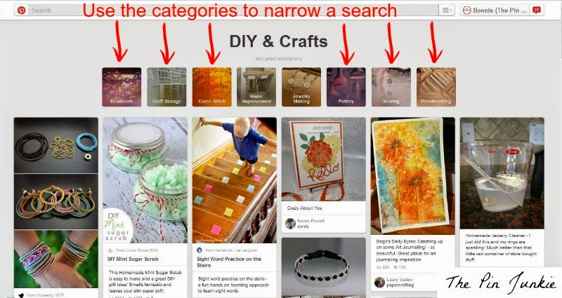 how to narrow Pinterest search