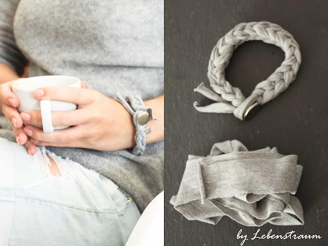 lebenstraum made with love jersey bracelet. Black Bedroom Furniture Sets. Home Design Ideas