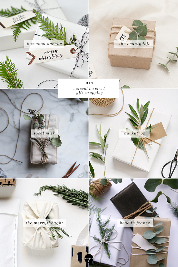 6 natural inspired gift wrapping ideas | My Paradissi