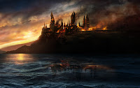 Harry Potter and the Deathly Hallows, Hogwarts, burning