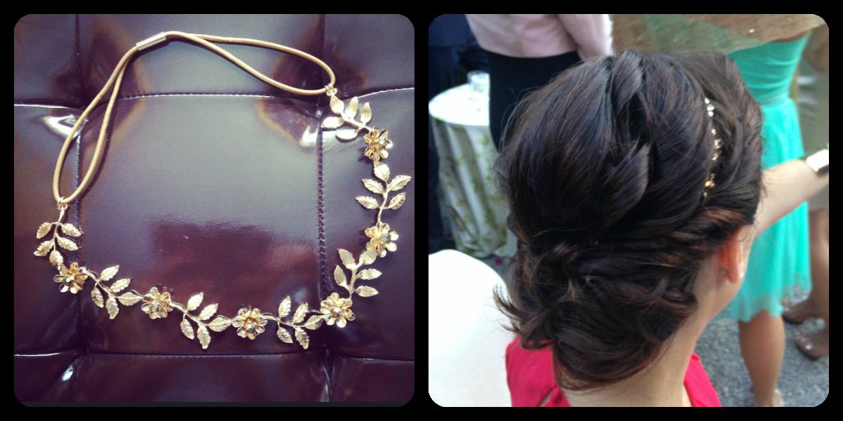 Como adorno del pelo utilice esta diadema de Zara, la compre ese mismo fin de semana.