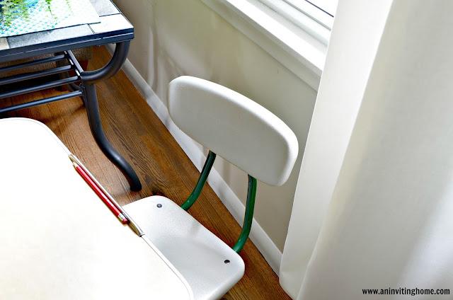 a desk for doing homework at