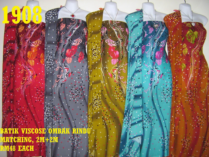 BVM 1908: BATIK VISCOSE OMBAK RINDU MATCHING, EXCLUSIVE DESIGN, 2M+2M