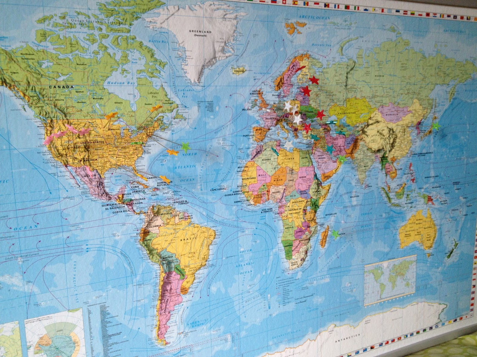 verdenskort til nåle
