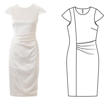 burda dergisi elbise modeli