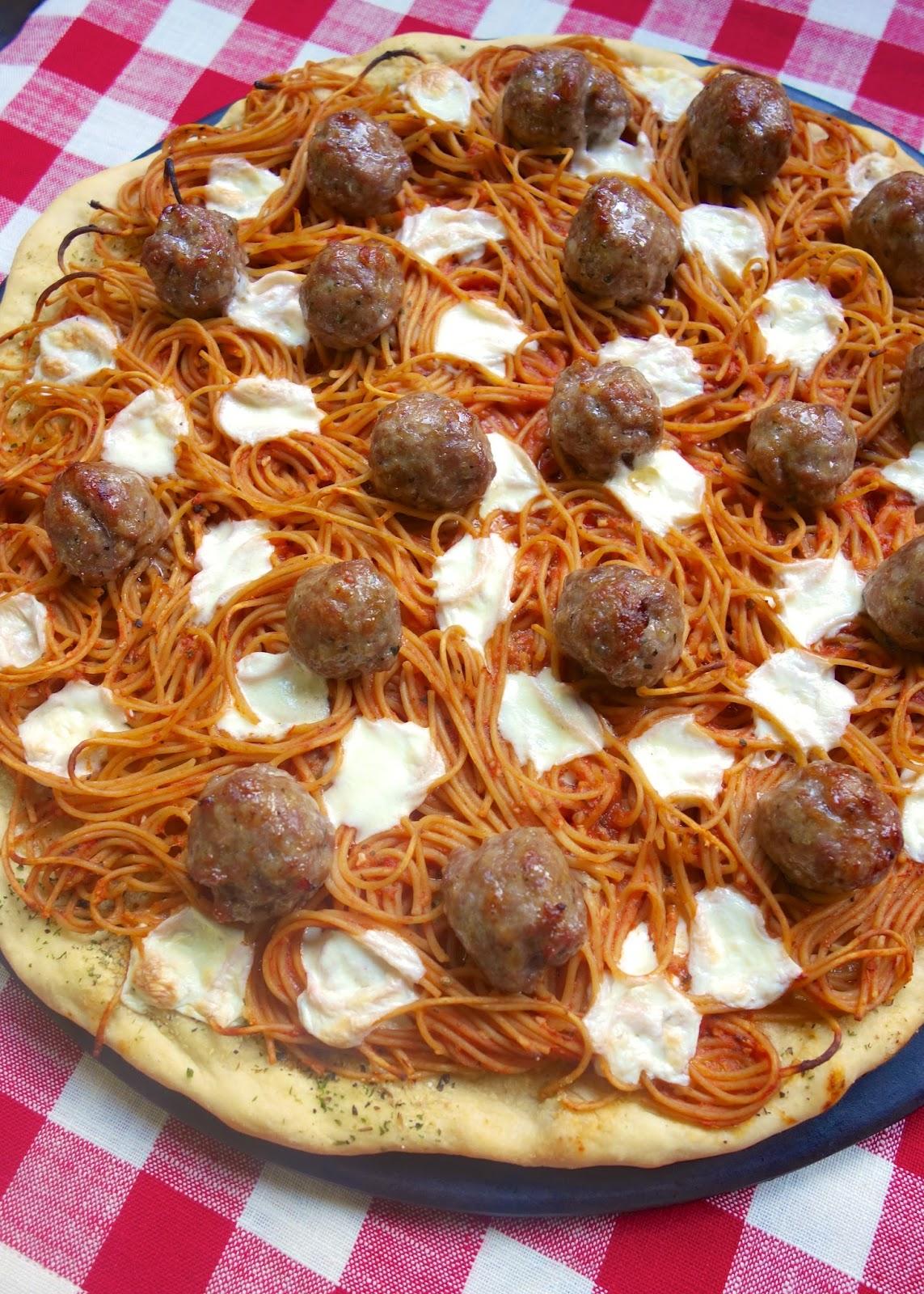 Spaghetti & Meatball Pizza | Plain Chicken
