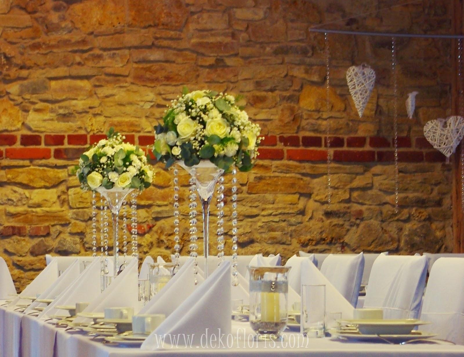 Zimowa dekoracja ślubna wesele Strzelce Opolskie Stary Młyn