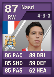 FUT Happy Hour - Nasri 87 iMOTM Purple Card