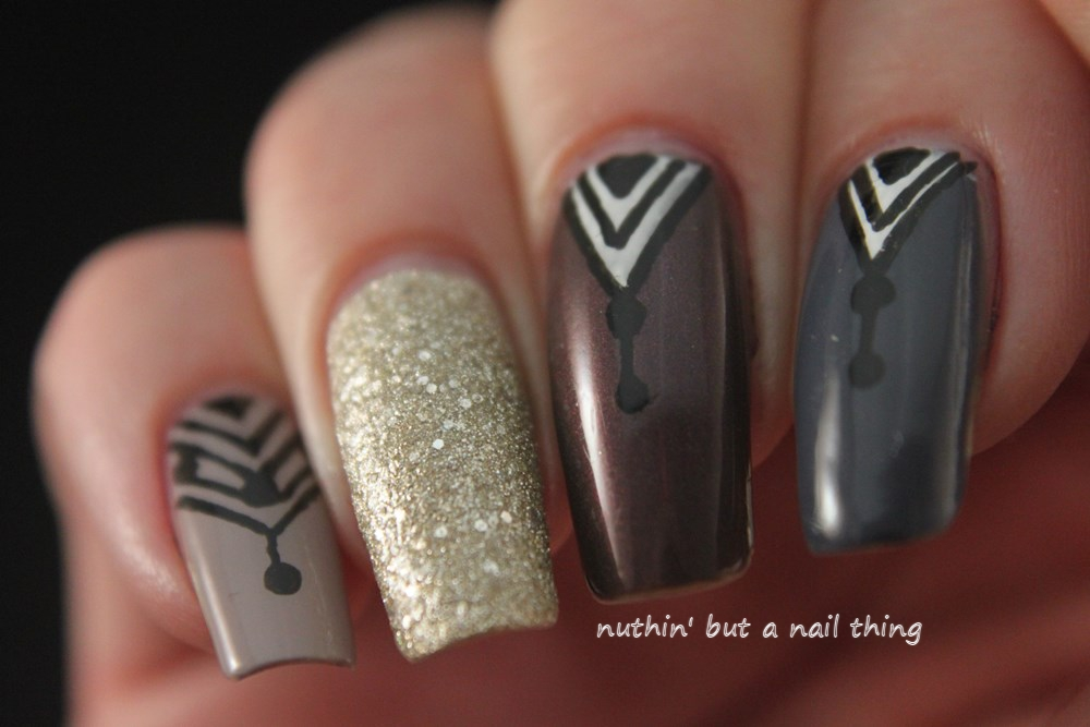 Easy tribal nail art design ideas