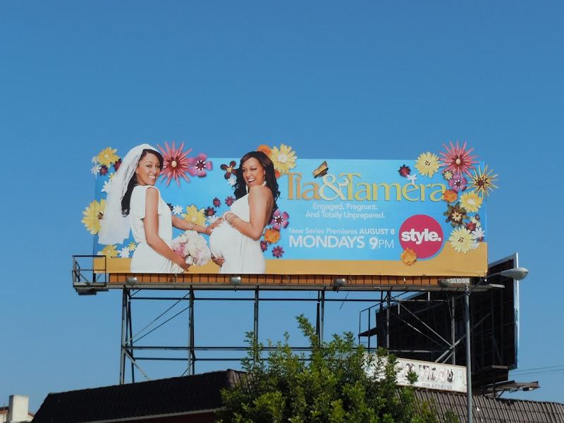 Tia and Tamera Style TV billboard