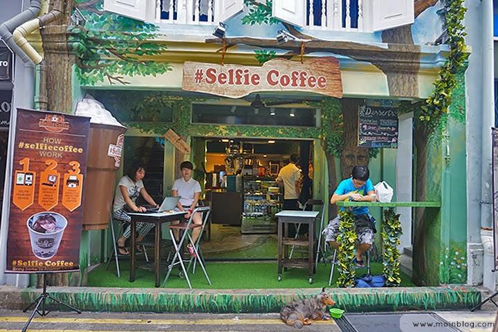 Selfie coffee Singapore Moinblog