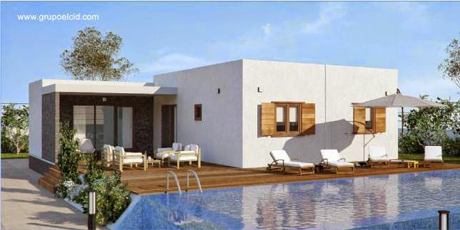Arquitectura de casas 25 modelos de casas modulares for Modelos de casas de una sola planta