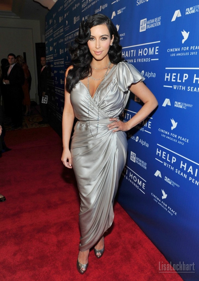 Kim Kardashian Red Carpet Dresses 2012