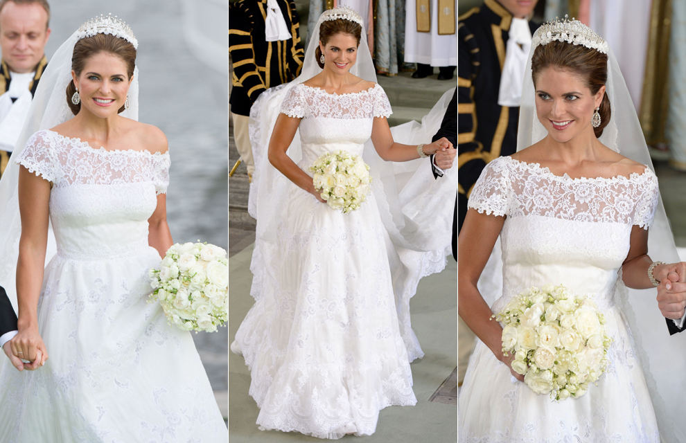 Royal couture wedding of princess madeleine of sweden for Swedish wedding dress designer