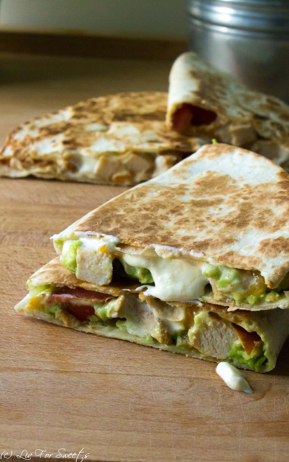 Chicken-BBQ-Quesadilla, Chicken-Avocado-Quesadilla, BBQ, Quesadilla, Tex-Mex, Tortilla
