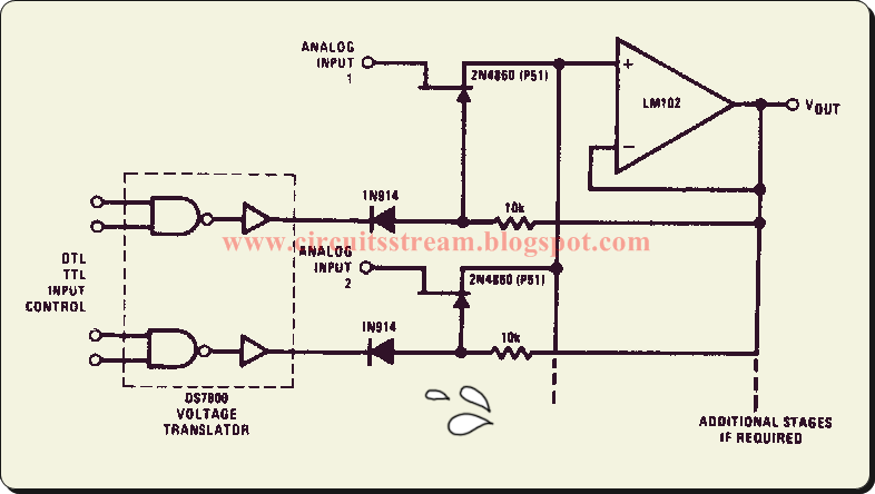 Simple Buffered    Analog       Switch    Circuit    Diagram      Electronic