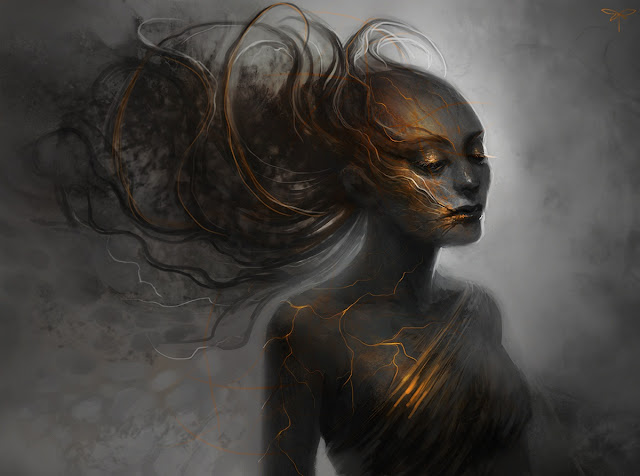 burn fantasy,digital art flame,dark flames