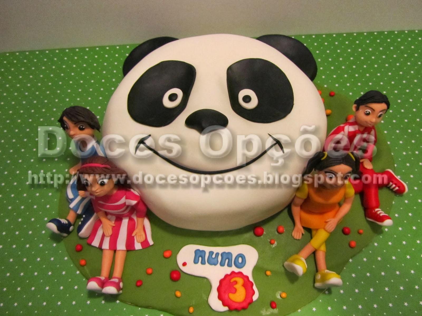 bolo aniversário panda caricas bragança