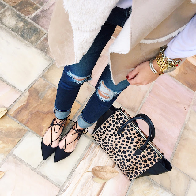 Lace-up flats