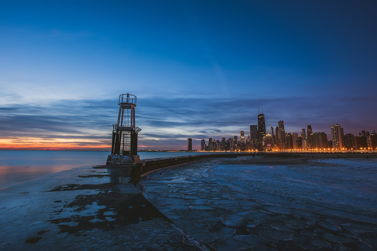 Chicago Sunrise North Avenue Photo