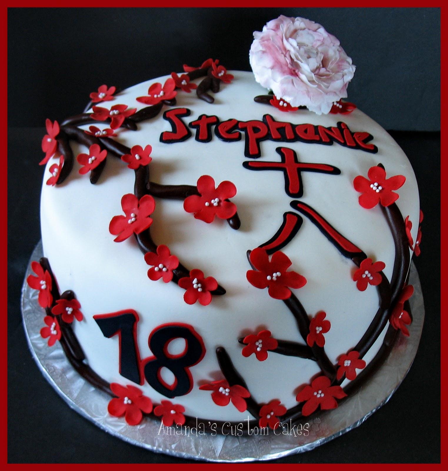 Amandas Custom Cakes Japanese Themed Birthday Cake