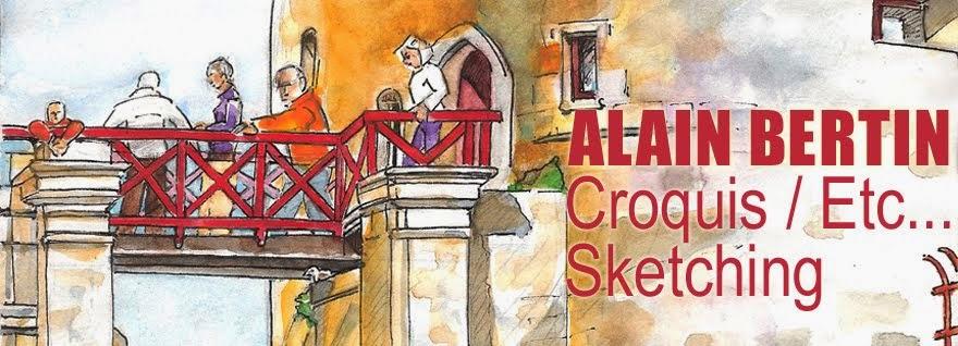 ALAIN BERTIN Croquis / Etc... Sketching