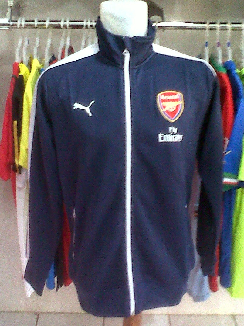 Jaket Arsenal Dark Blue 2014/2015