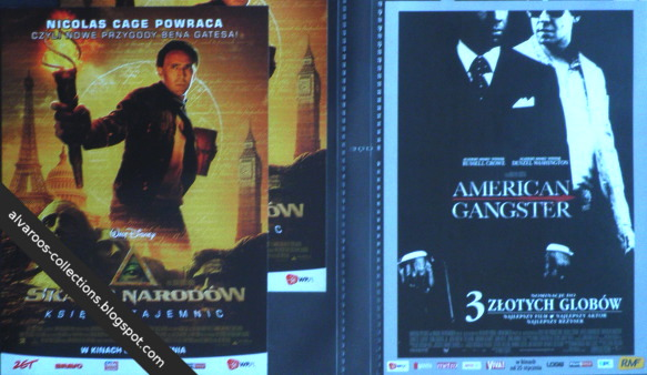 movie flyers: National treasure, American Gangster