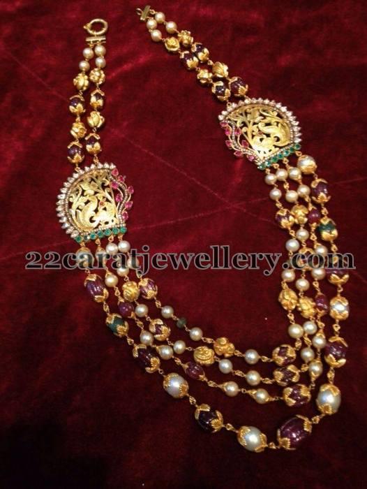 Peacock Side Motifs Beads Set