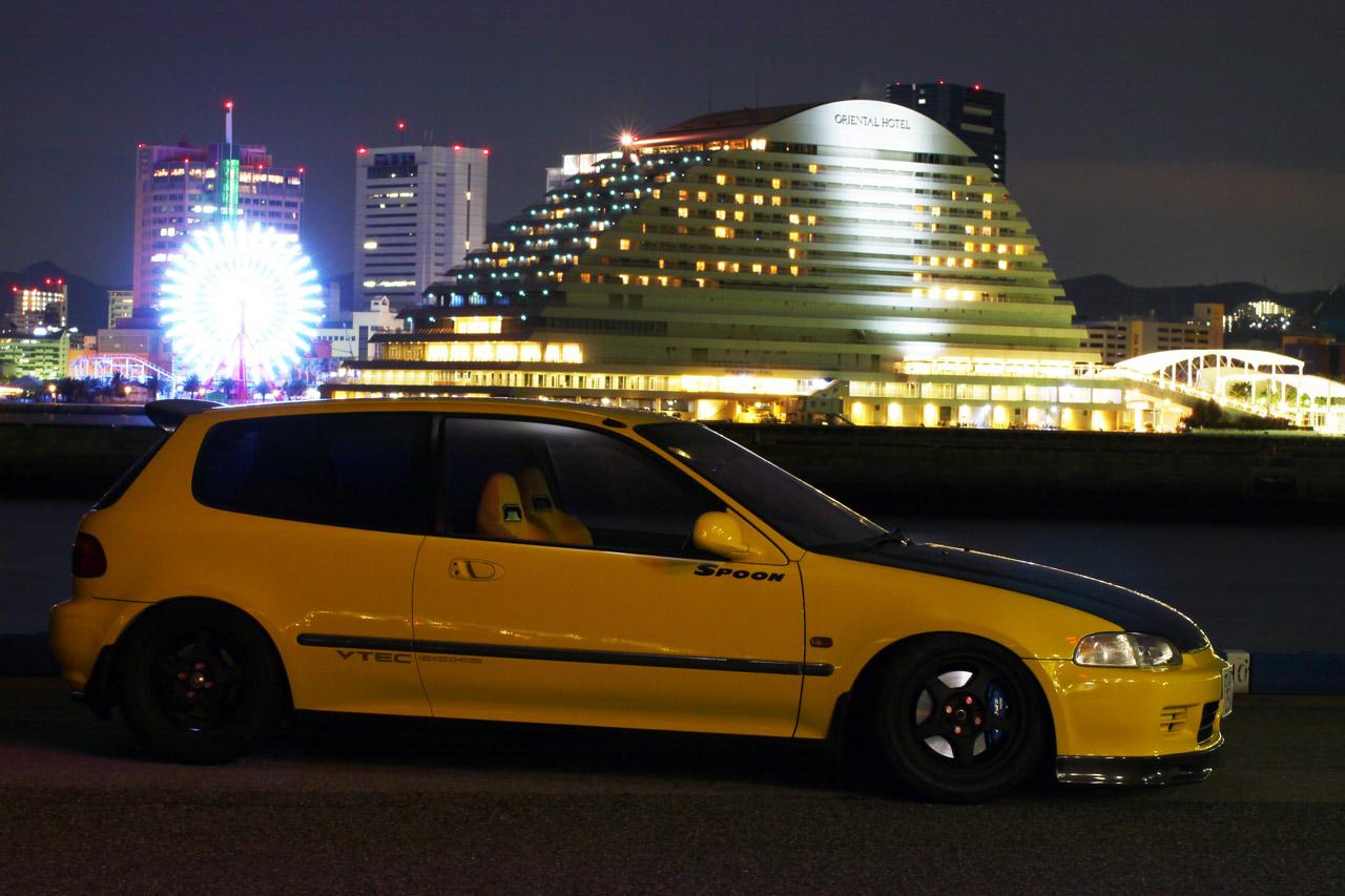 Honda Civic V nocna fotografia