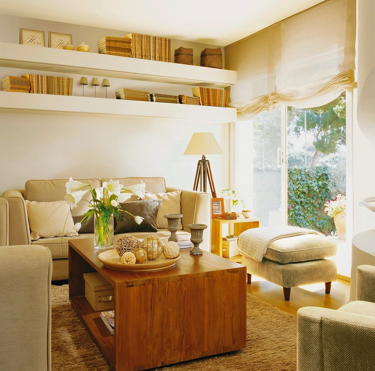 Detalhes do c u pequeno apartamento muito bem decorado - Salones pequenos decorados ...