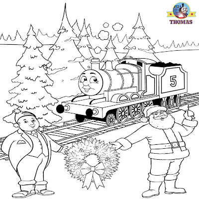 We let it snow Kid free worksheets James train Santa Claus awesome coloring pages to print and color