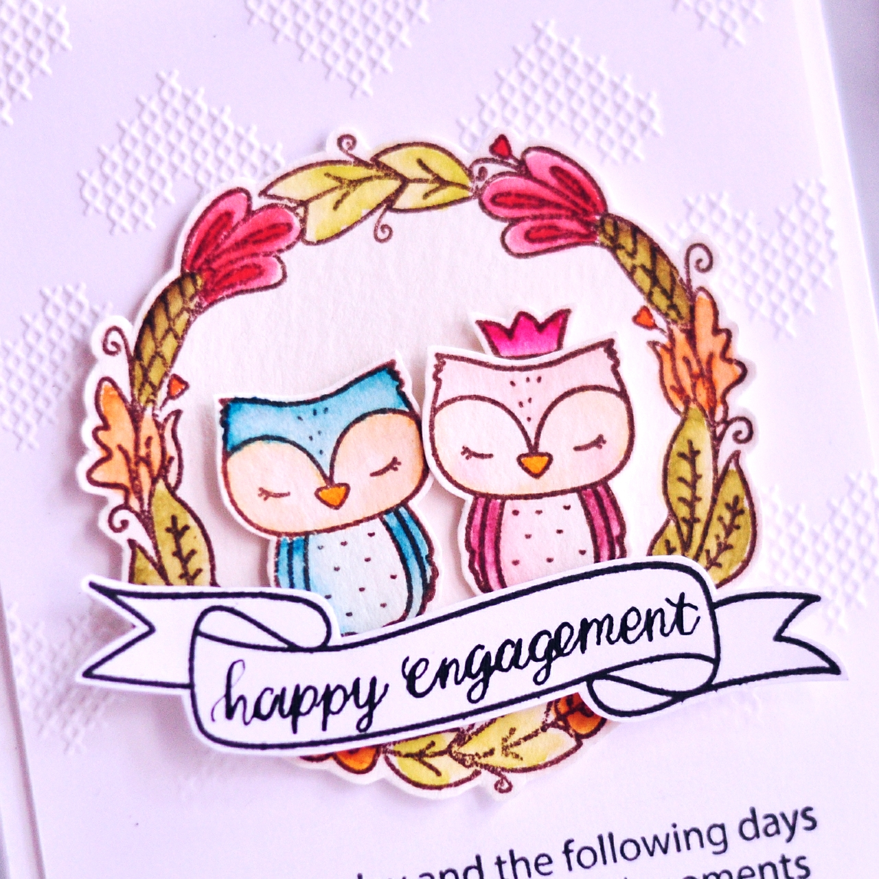 moccavanila by vera rhuhay: Happy Engagement Card
